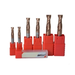 安田 60度二刃碳化钨钢平头铣刀 厂家高硬度合金立铣刀 金色涂层