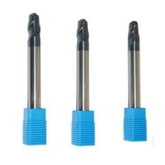 安田 硬质合金数控45度二刃长刃球头铣刀 专铣圆弧凹槽