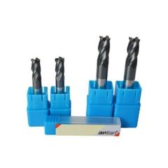 安田 钨钢涂层45度四刃圆鼻刀/立铣刀 数控刀具用于高速加工耐用