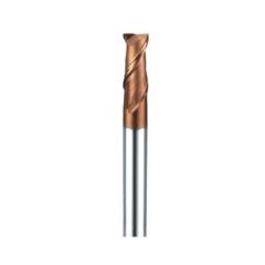 安田 金色涂层55度2刃圆鼻立铣刀 硬质合金高硬度CNC中心数控刀具