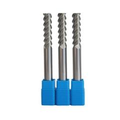 安田 碳化钨 45度三刃加工用立铣刀 加长型铝用铣刀 数控刀具