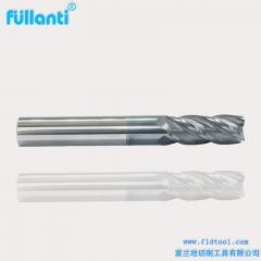 富兰地65度钛合金专用立铣刀 钛合金铣刀 钛合金专用立铣刀 4刃钛合金专用立铣刀 厂家直销 4刃 银