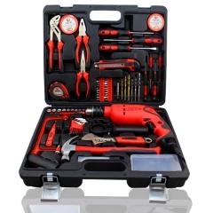 家用工具套装 多功能五金工具箱 电工木工维修手动工具组套