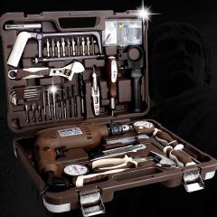 五金工具箱套装 维修电工组套 德国多功能家用手动组合带电钻