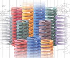 厂家直销 日本东发模具弹簧 弹弓 扁线压簧 矩形弹簧