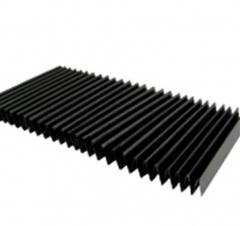 柔性风琴式导轨防护罩/平帘折叠防护罩/导轨PVC伸缩防护罩