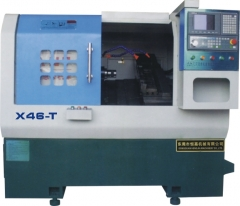 HJX46-T排刀数控车床 米汉纳床身新代系统主轴承日本NSK加工直径98