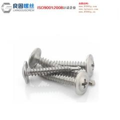 东莞良固厂家直销 供应十字槽机螺丝扁圆头 不锈钢钻尾螺丝