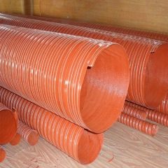 红色耐高温280度硅胶管 矽胶管 热风管( 200口径一根4米)