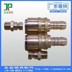 厂家供应 非标六角铜件加工定做 黃铜六角油嘴 油接头 精密车削件