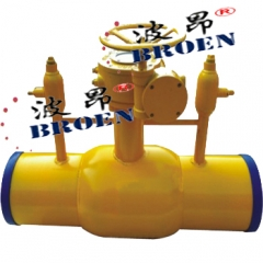 双排气全焊接球阀 波昂品牌