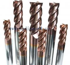 HRC50-65钨钢平底铣刀,铣刀-东莞市迪盟五金模具有限公司