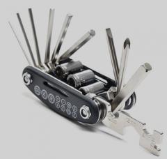 内外六角螺丝刀扳手15合1多功能工具骑行装备