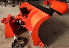 柳工50铲车配推雪板价格 新疆吉林冬季除冰雪设备3.5米推雪铲价格