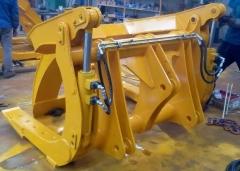 装载机夹草叉20 30 50装载机改装夹木机 装载机配木材抓具