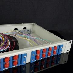 24口光纤终端盒SC/ST/FC/LC长方形黑色尾纤光缆光纤盒 熔接盒