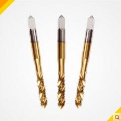 机用丝锥高速钢机用镀钛螺旋丝攻螺旋槽丝锥高品质M2.0-16.0mm 2MM POWKING 机用丝