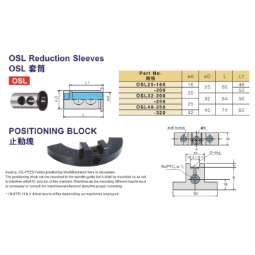 原装进口  OSL套筒 CNC数控机床 套筒 机床加工