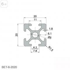 黑色氧化 铝型材2020铝合金型材铝合金方管角铝欧标支架工业框架