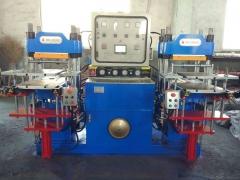 车间现货出口进口配置双联平板硫化机_台湾技术制作双轴平板硫化机